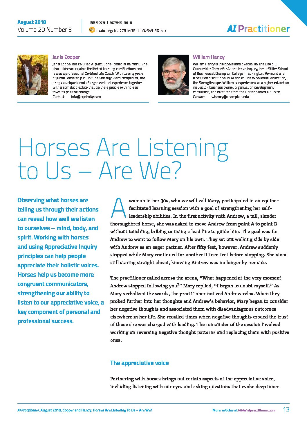 aip-august18-appreciative-voice-horses-and-ai - AI Practitioner